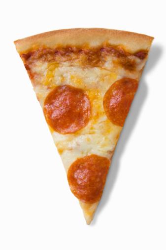 Unhealthy Eating「Pepperoni pizza slice」:スマホ壁紙(1)