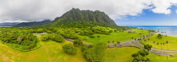 コオラウ山脈「USA, Haswaii, Oahu, Ko'olau Range, Kamehameha Highway」:スマホ壁紙(14)