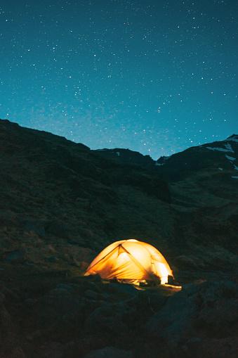 Below「Tent at night」:スマホ壁紙(9)