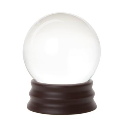 White Background「Crystal ball」:スマホ壁紙(16)