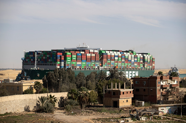 Canal「Container Ship 'Ever Given' Refloated, Unblocking Suez Canal」:写真・画像(8)[壁紙.com]