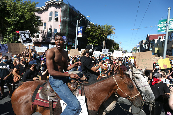 Horse「Protest Continue In San Francisco Over Death Of George Floyd In Minneapolis」:写真・画像(4)[壁紙.com]