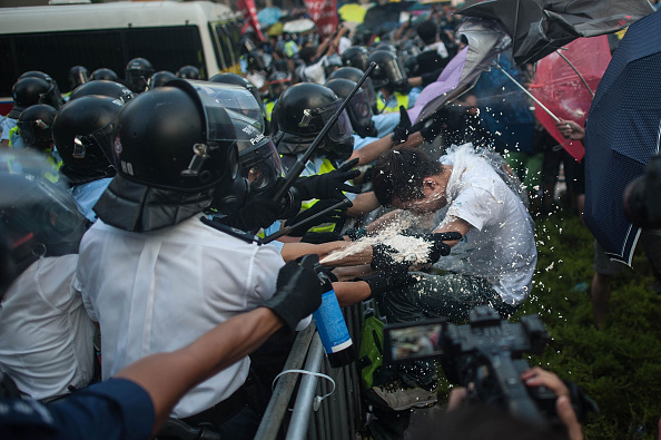 Riot Police「Pro Democracy Supporters Attempt To Bring Hong Kong To A Stand Still With Mass Rally」:写真・画像(9)[壁紙.com]