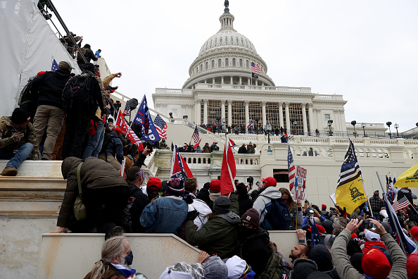 """Capitol Hill「Trump Supporters Hold """"Stop The Steal"""" Rally In DC Amid Ratification Of Presidential Election」:写真・画像(9)[壁紙.com]"""