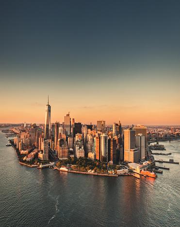 New York State「manhattan island aerial view」:スマホ壁紙(4)