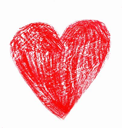 Love - Emotion「Crayon Drawing of Red Heart」:スマホ壁紙(0)