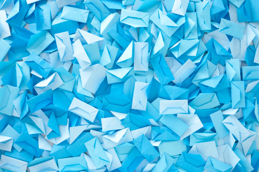 Origami「Blue envelopes」:スマホ壁紙(9)