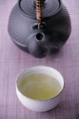 Green Tea「A cup of green tea and teapot」:スマホ壁紙(12)