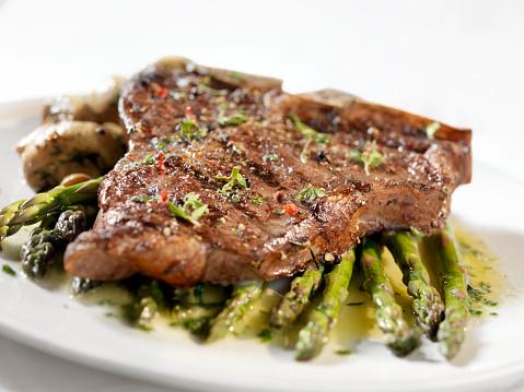 Porterhouse Steak「Porterhouse Steak with Asparagus」:スマホ壁紙(2)