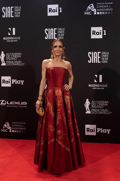 Flared Dress「66th David Di Donatello 2021 - Red Carpet」:写真・画像(0)[壁紙.com]