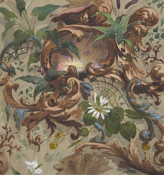 Grass Family「Design For Wallpaper Featuring Shells」:写真・画像(9)[壁紙.com]