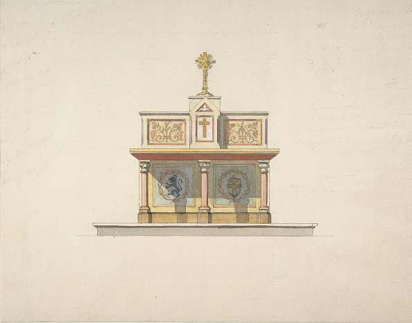 Furniture「Design For An Altar Table Surmounted By A Crucifixion」:写真・画像(4)[壁紙.com]
