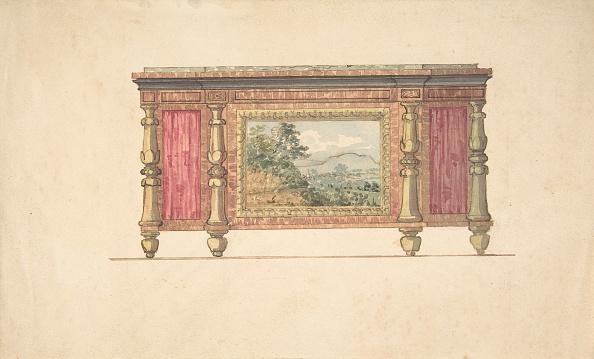 Furniture「Design For Sideboard With Inset Landscape」:写真・画像(5)[壁紙.com]