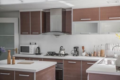 Domestic Kitchen「Large, open, modern kitchen.」:スマホ壁紙(15)