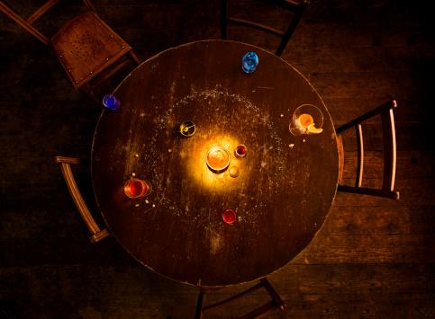 Alcohol - Drink「solar system model on pub table」:スマホ壁紙(5)