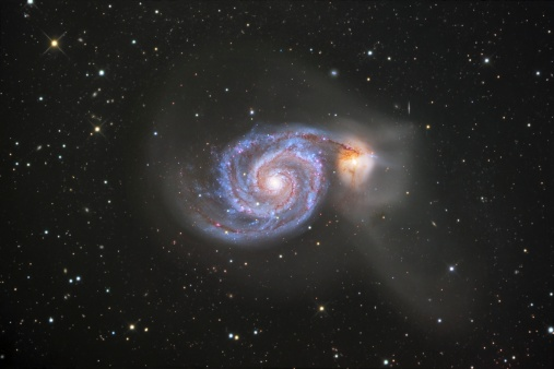 Supernova「The Whirlpool Galaxy, also known as Messier 51 or NGC 5194, is a spiral galaxy located in the constellation Canes Venatici.」:スマホ壁紙(19)