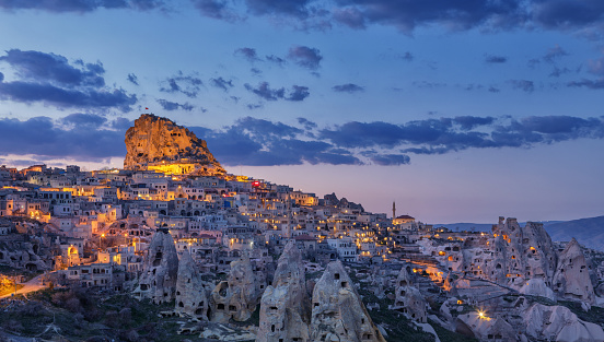 Turkey - Middle East「Townscape of Uchisar, Cappadocia, Turkey」:スマホ壁紙(19)