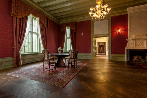 Classical Style「Interior room of an old manor house」:スマホ壁紙(8)