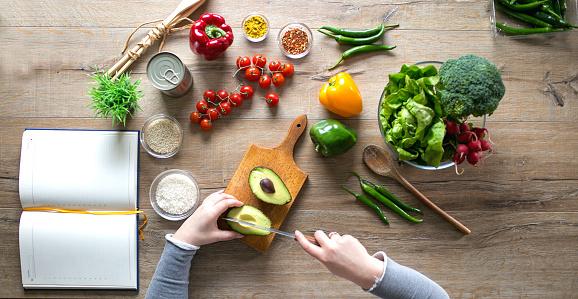 Recipe「Cutting an avocado for salad」:スマホ壁紙(17)