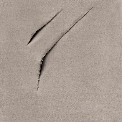 Destruction「Hi-Res Artist's Primed Cotton Duck Canvas Cut Surface Grunge Texture」:スマホ壁紙(8)