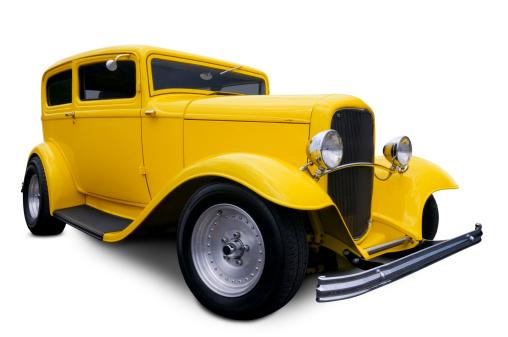 Hot Rod Car「Yellow Hot Rod」:スマホ壁紙(8)
