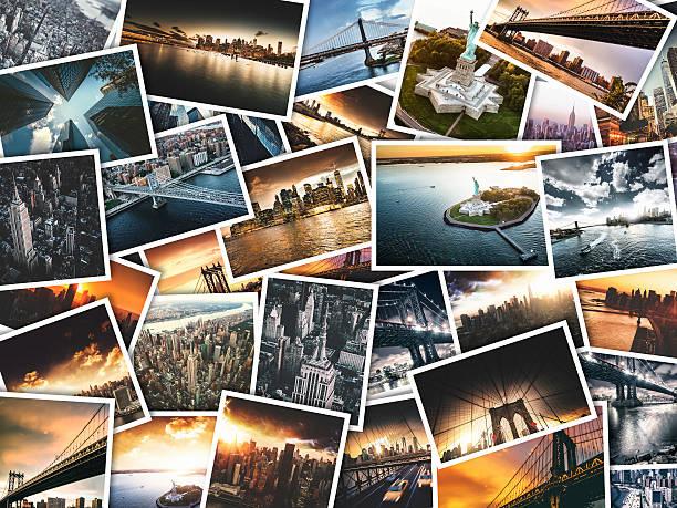 nyc travel images on polaroid paper:スマホ壁紙(壁紙.com)