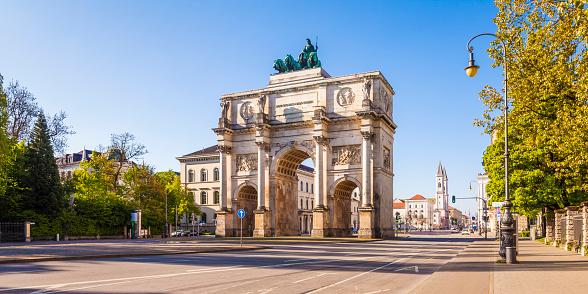 Bavaria「Germany, Bavaria, Munich, Victory Gate」:スマホ壁紙(5)