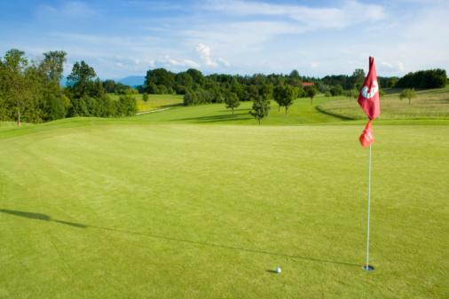 Hole「Germany, Bavaria, Golf green with flag」:スマホ壁紙(6)