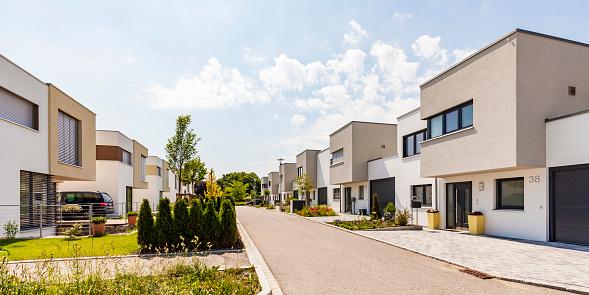 Conformity「Germany, Bavaria, Neu-Ulm, modern one-family houses, efficiency houses」:スマホ壁紙(6)