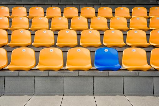 Side By Side「Germany, Bavaria, Empty stadium seats」:スマホ壁紙(12)