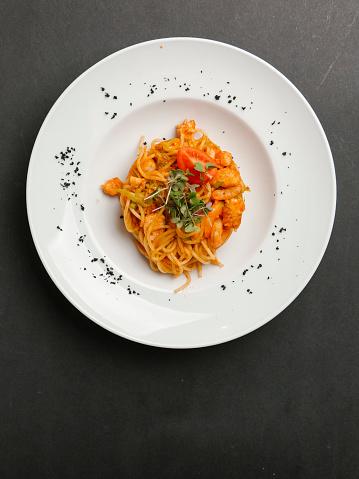 Seafood「Plate of seafood pasta」:スマホ壁紙(13)