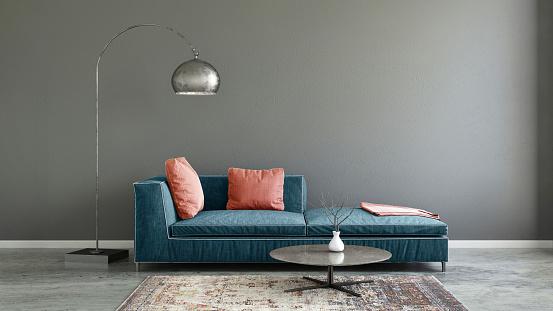 パステルカラー「パステル カラーのソファ空白の壁テンプレート付け」:スマホ壁紙(3)