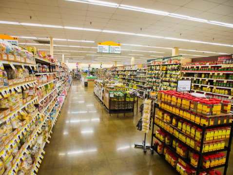 Supermarket「Dry goods section of grocery store」:スマホ壁紙(15)