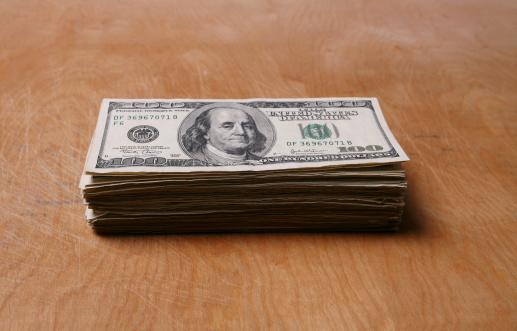 American One Hundred Dollar Bill「Stack of Money」:スマホ壁紙(2)