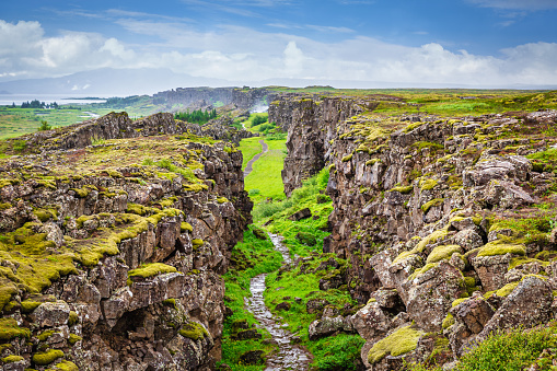 Volcanic Landscape「Thingvellir National Park Continental Divide Iceland Þingvellir」:スマホ壁紙(15)