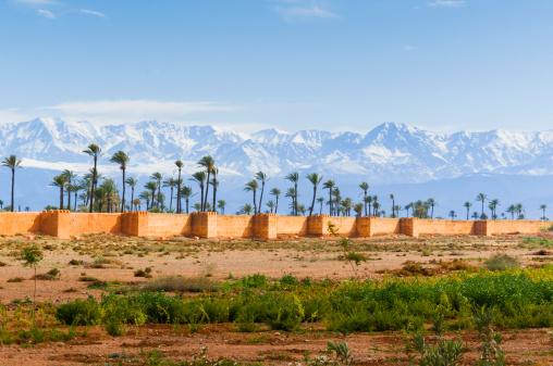 アトラス山脈「City Ramparts, High Atlas, Marrakech」:スマホ壁紙(15)