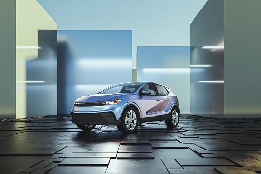 Transportation「Generic modern car as product shot」:スマホ壁紙(2)