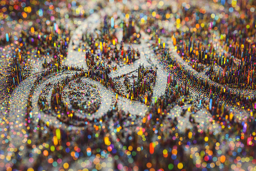 Circuit Board「Colorful miniature topographic abstract background」:スマホ壁紙(14)