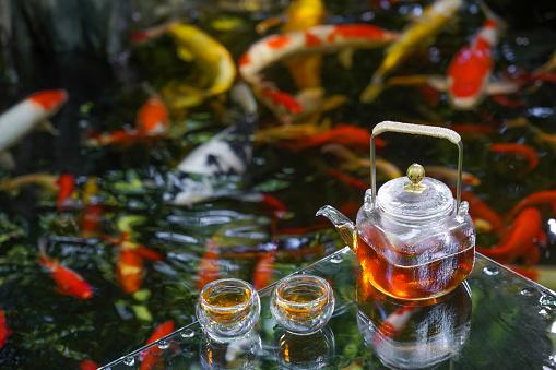 Carp「The tea service of the pond」:スマホ壁紙(19)