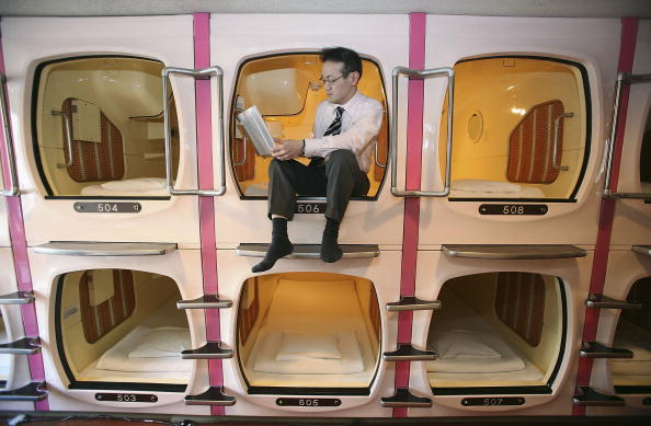 Tokyo - Japan「Tokyo's Tube Hotels Attracts Foreign Travellers」:写真・画像(8)[壁紙.com]