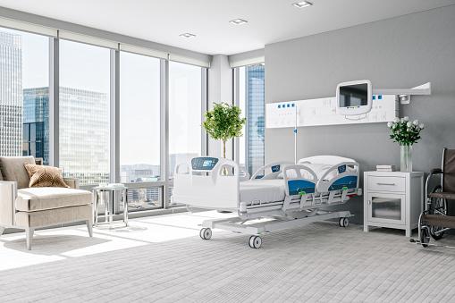Quarantine「Empty Luxury Modern Hospital Room」:スマホ壁紙(5)