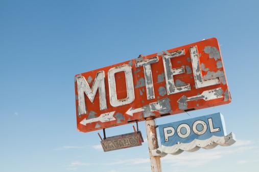 Motel「Motel Sign Along Historic Route 66, Retro, Nostalgia」:スマホ壁紙(2)
