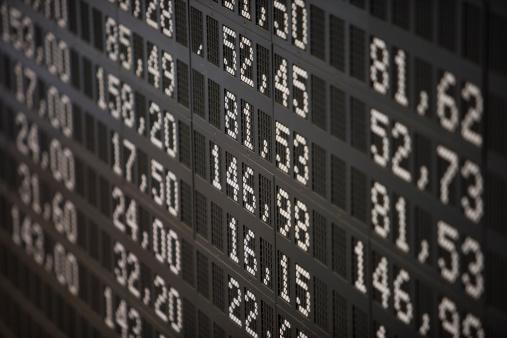 Number「Deutsche Borse Stock Exchange trading floor display.」:スマホ壁紙(3)