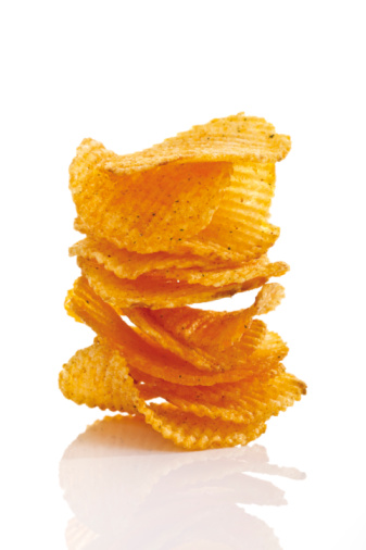 Tasting「Stack of Potato chili chips, close-up」:スマホ壁紙(18)