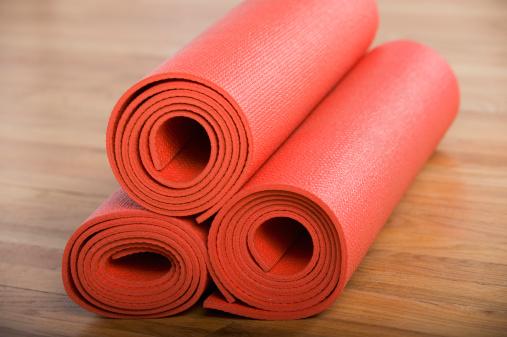 Pilates「Stack of rolled yoga mats」:スマホ壁紙(16)