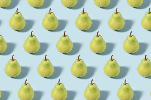 Pear「Green Pears on Soft Blue Background」:スマホ壁紙(18)