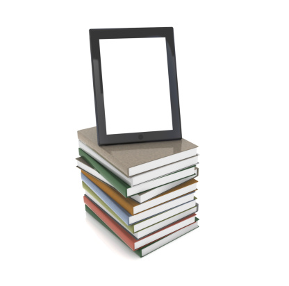 Touch Screen「Tablet PC on Books」:スマホ壁紙(4)