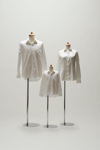Mannequin「family mannequin dressing a white shirt.」:スマホ壁紙(6)