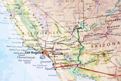 Mexico「Map of Los Angeles California」:スマホ壁紙(15)