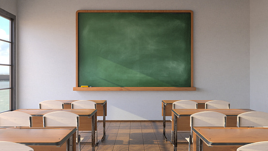 Infectious Disease「Empty classroom, pandemic concept」:スマホ壁紙(9)